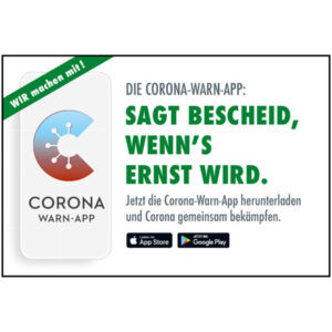 Corona Warn-App Motiv 03 Sagt Bescheid, wenn's ernst wird
